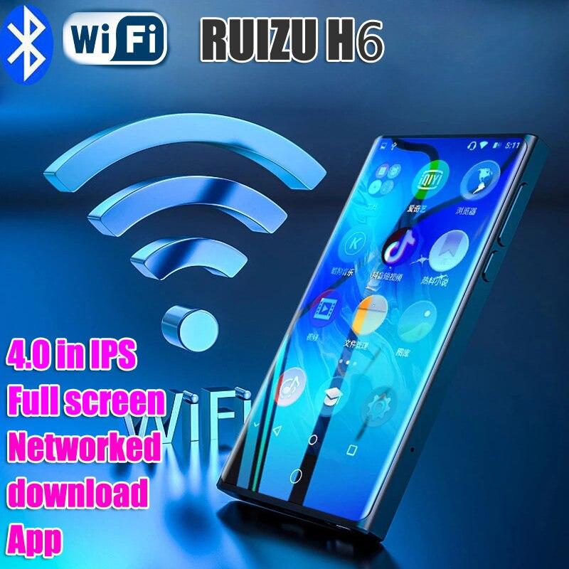 Ruizu H6 mp4 WIFI bluetooth full Touch 4,0 дюймовый IPS экран MP3-плеер может попасть в интернет FM Радио Видео плеер электронная книга