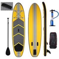 ANCHEER 10ft Inflatable Surfboard Surfing Stand Up Paddle Board iSUP Wakeboard Sup Surf Board Bodyboard with Paddle Backpack
