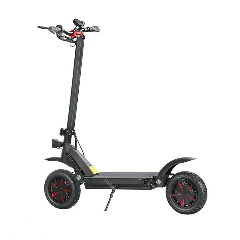 Powerful Electric Bike 60V 3600W Two Wheels 10'' Ecorider E4-9 Double Drive Folding Electric Scooter Adults