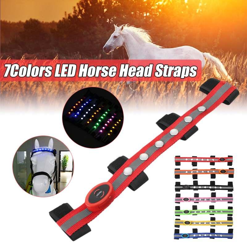 Long LED Horse Riding Head Decoration Luminous Tubes Horses Riding Equestrian Saddle Halters Horse Care Products