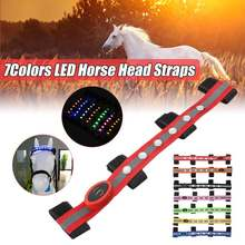 Products Decoration Equestrian Saddle Riding-Head Horse-Care HALTERS Luminous-Tubes Long