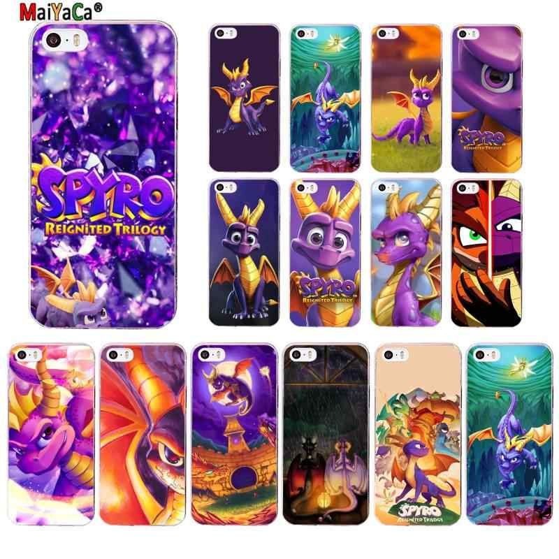 MaiYaCa Spyro The Dragon Transparent TPU Soft Phone Cover for iPhone 11 pro XS MAX 8 7 6 6S Plus X 5 5S SE XR cover