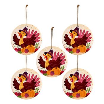 30pc 2020 Ornament spadek święto dziękczynienia turcja drewniane dekoracje weselne nowe ozdoby świąteczne 2021 wisiorek dziękczynienia tanie i dobre opinie CN (pochodzenie) christmas decorations Bez pudełka