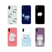 Accessories Phone Shell Covers For Huawei Nova 2 3 2i 3i Y6 Y7 Y9 Prime Pro GR3 GR5 2017 2018 2019 Y5II Y6II Hippo Cute(China)