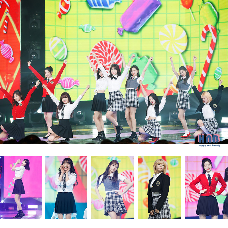 Kpop TWICE Same College Wind Tops And Skirt Two Piece Set Women Student Graduation Photo Cheerleader Students Stage Show Suits
