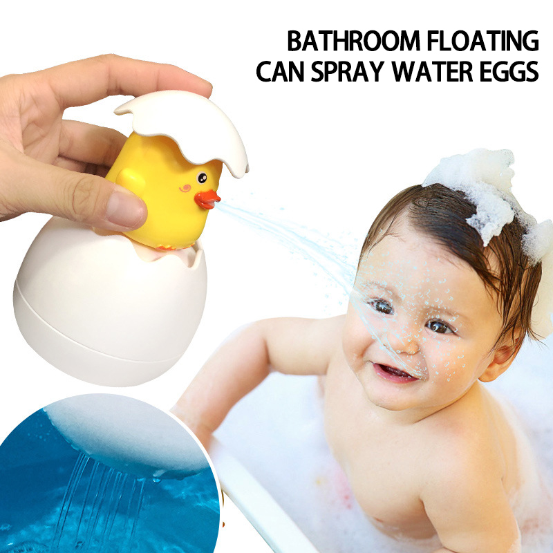 Baby Shower Toy Cute Bathroom Floating Egg Bathtub Spray Toy Children Bath Shower Floating Egg Educational Toy