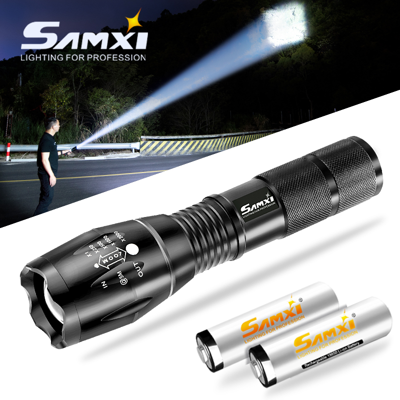 Zoomable T6/L2/V6 LED Flashlight Dropship Tactical Flashlight High Light Torch Camping Fishing With 5 Switch Modes Waterproof