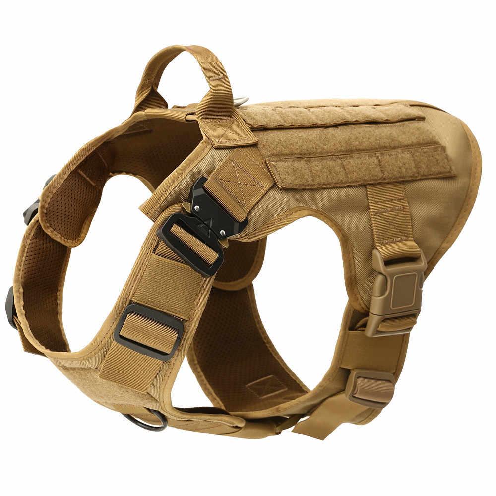 モール犬のベストハーネスジャーマンシェパード戦術的な軍事通気性の犬服ハーネス調整可能なサイズのトレーニング狩猟