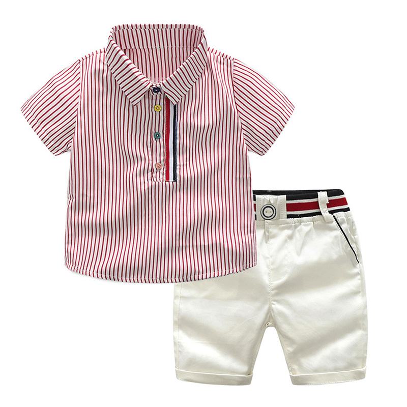 manga curta listrado camisa shorts senhores terno
