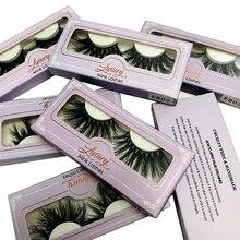 Atacado 25mm 3D mink cílios natural longo 30 pçs/lote venda quente 100% handmade mink lashes embalagem
