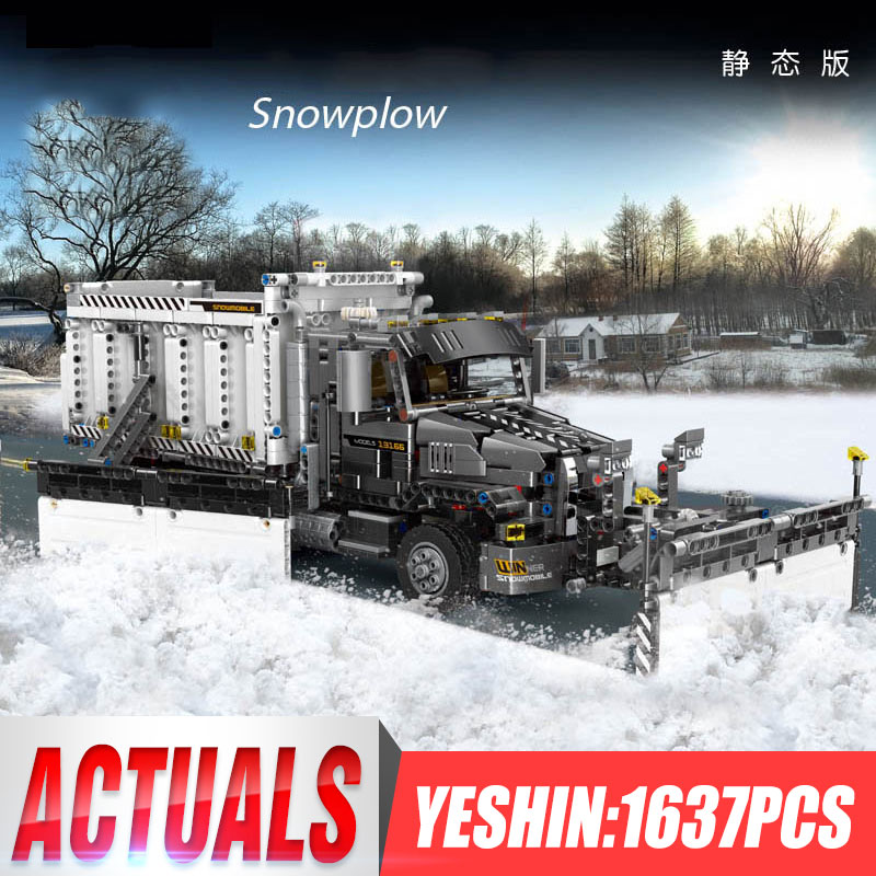 MOC Technic City series Snow cleaning car Great Vehicles Building Blocks Model Bricks Compatible  Truck Toys As Gift