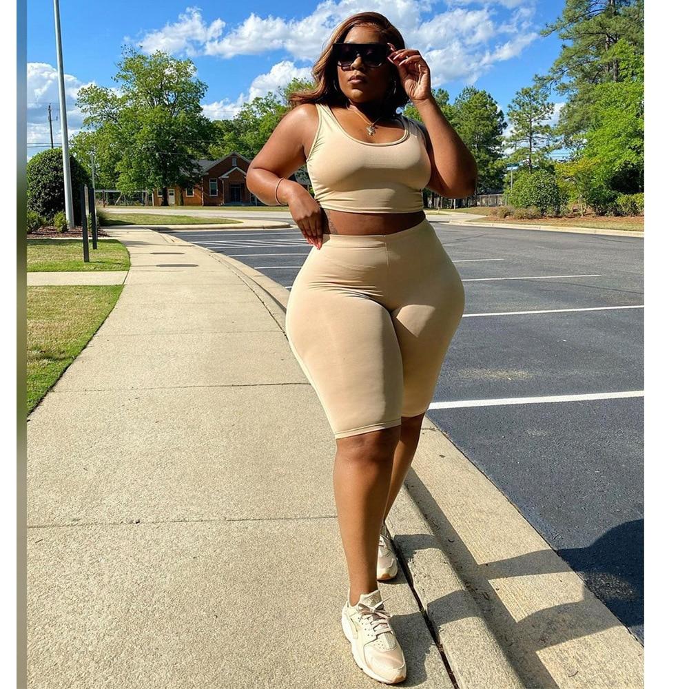Plus Size set women summer clothing  3