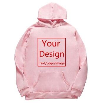 2020 Men/Women Custom hoodies DIY Text Logo Image Print High Quality Clothing Customized Sport Casual Sweatshirt Size XS-4XL 1
