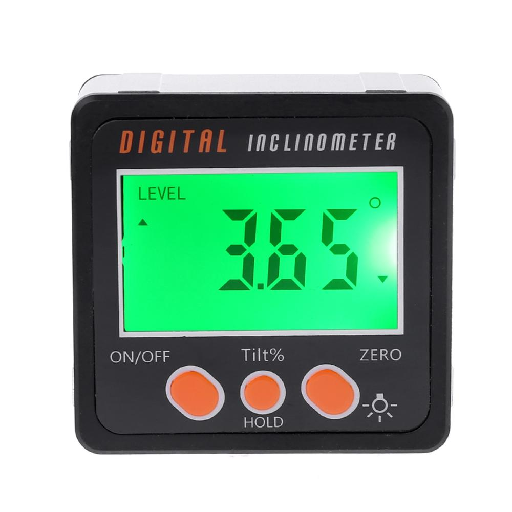 Digital Inclinometer Electronic Protractor Aluminum Alloy Shell Bevel Box Angle Gauge Meter Measuring Tool 94PC