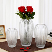 High quality living room decoration frosted glass vase flower vases for wedding home decor