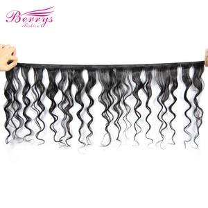 Image 2 - [Berrys Fashion]Brazilian Virgin Hair Water Wave 1PC/lot 100% Unprocessed Human Hair Bundles Natural Color Hair Weave 10 28 inch