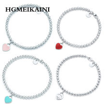Tiff Fashion, and fashion jewelry, crystal from Austria S925 pure silver bead TIFF bead bracelet beads love gift gift, ms(China)