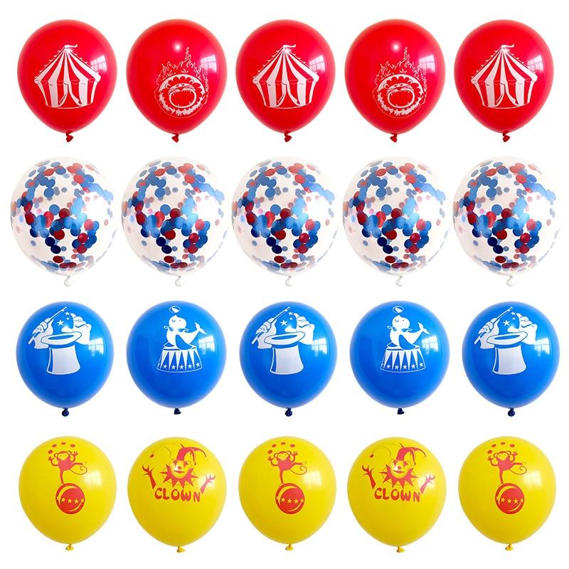 20 шт конфетти латексные шары 12 дюймов цирк обезьянка в форме клоуна с днем рождения Свадьба Рождество Декор поставки дети баллон
