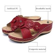 ADISPUTENT Women Sandals Wedges Heel Flower Platform Hollow Casual Plus Size Summer Beach Female Ladies Shoes Zapatos De Mujer
