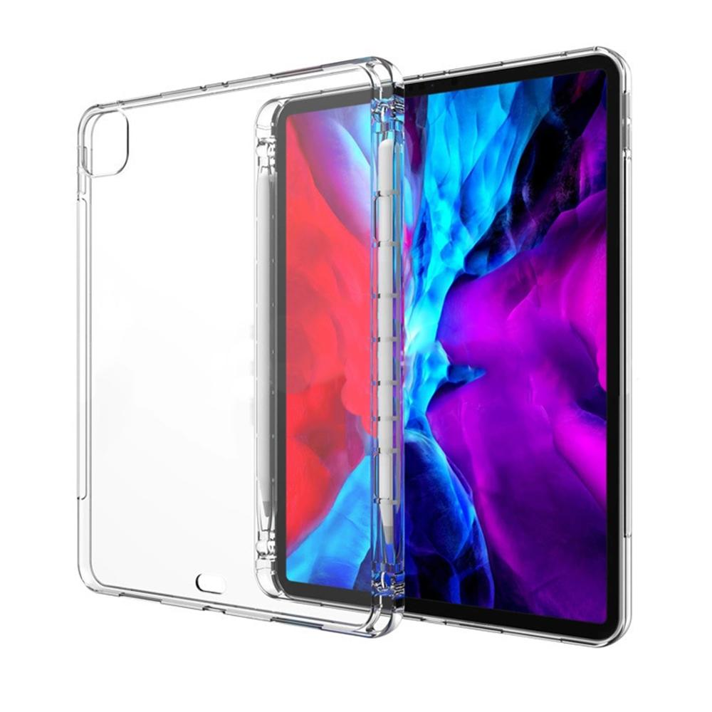 Tablet case for Apple ipad Pro 11 2020 Pen tray soft shell TPU cover Transparent protection