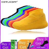 Силиконовая обувь многоразовая Водонепроницаемая непромокаемая Мужская обувь покрывает непромокаемые сапоги Нескользящая моющаяся одеж...