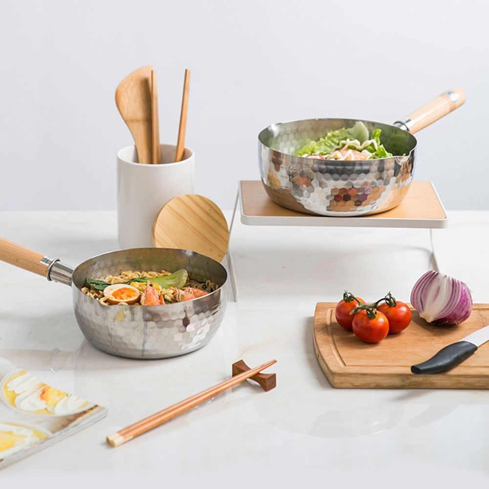 Еда со стеклянной крышкой алюминиевый сплав горшок для лапши ковш для молока в японском стиле с плоским дном варить антипригарный для готовки супа жарить сахар