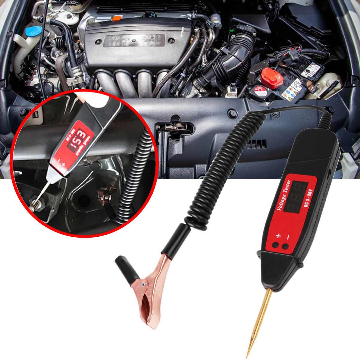 Uniwersalny motoryzacyjny diagnostyczny Tool5-36V LCD cyfrowy tester obwodów miernik napięcia Pen Car Circuit Scanner Power Probe