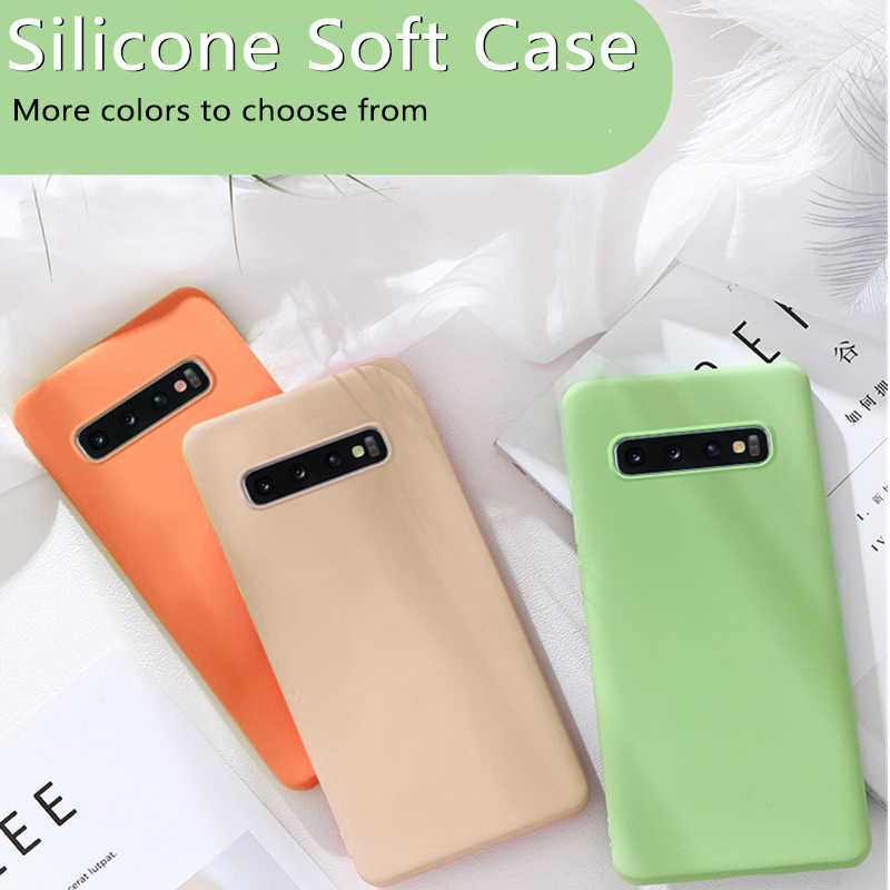 Silikon TPU untuk Samsung Galaxy A50 A70 A40 S8 S9 S10 Lembut untuk Note10 Plus 9 8 a10 A20 A30 Tutup Pelindung