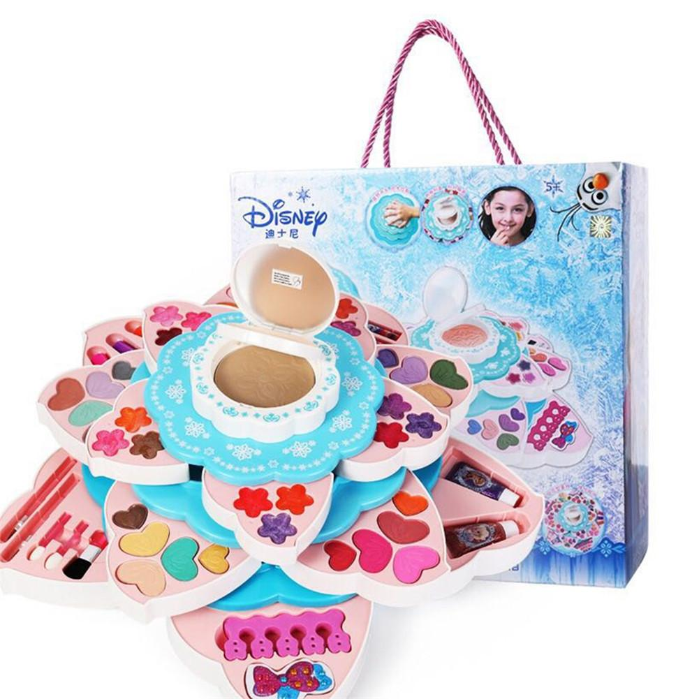 Princess Girl Simulation Beauty Makeup Water-soluble Cosmetics Toys Cosmetic Party Performance Dresser Set Children House Gift