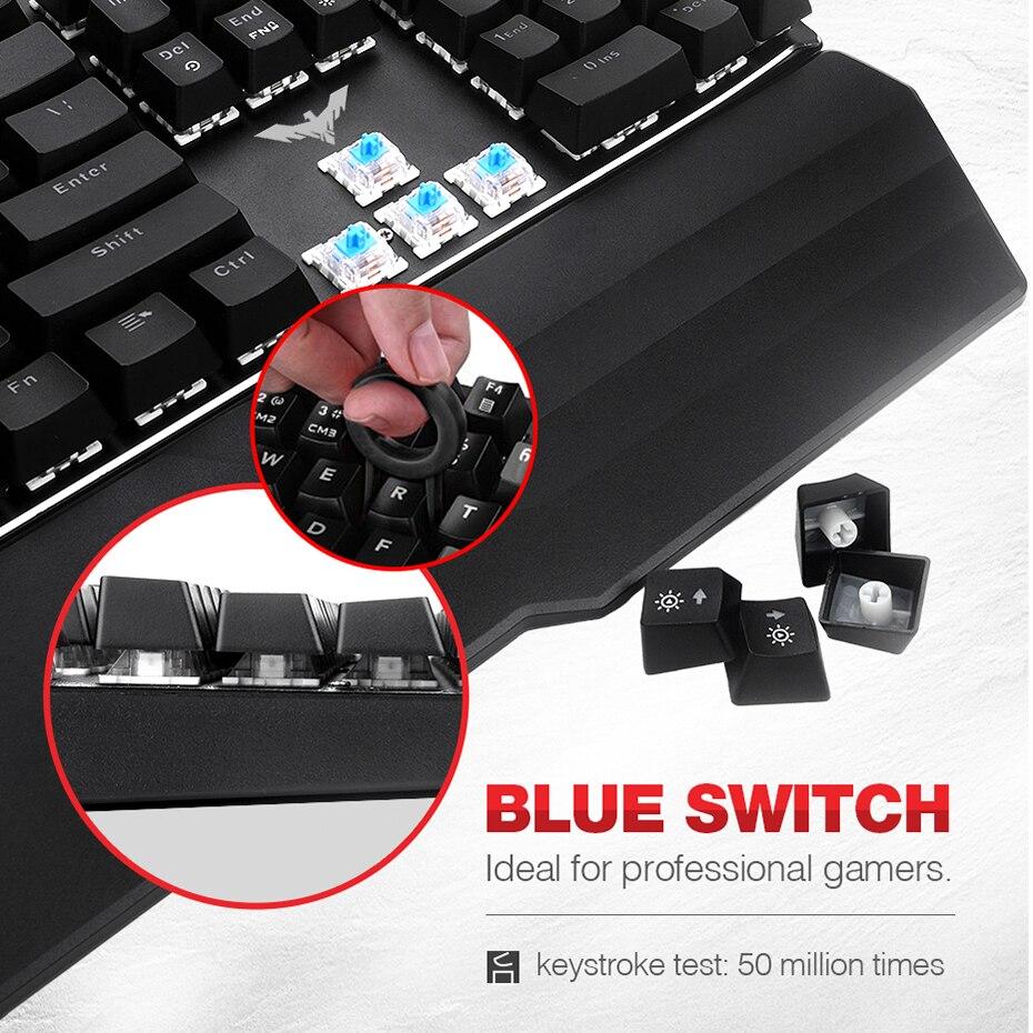 luz azul vermelho interruptor com fio teclado