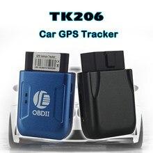 OBD II Rastreador GPS OBD II TK206 AGPS dispositivo de Rastreamento GPS para a localização exata do veículo do GPS + LBS alarme da Velocidade Excessiva cerca de Geo-