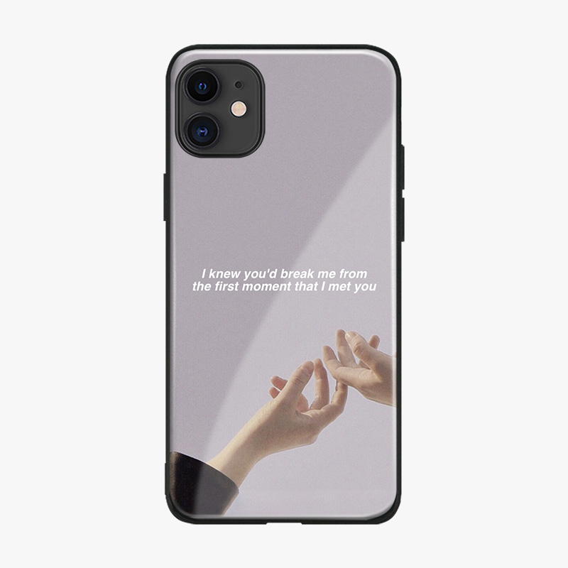 Aesthetics quotes memes Coque Soft Silicone glass Phone Case Cover Shell For Apple iPhone 6 6s