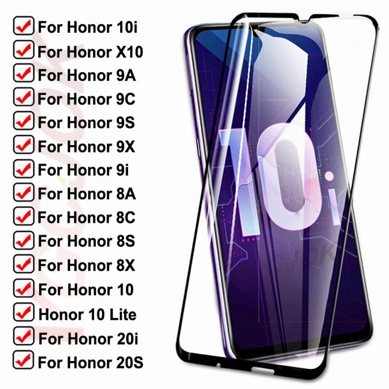 Закаленное стекло 15D для Huawei honor 10i 9i 20i 20S X10, Защитное стекло для Honor 10 Lite, 8A, 8X, 8S, 8C, 9A, 9X, 9C, 9S, Защитная пленка для экрана
