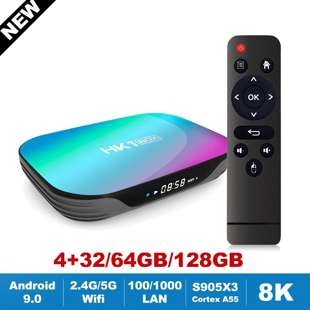 HK1 BOX Android 9 0 Fast TV Box Amlogic S905X3 2 4G 5G Dual Wifi AC BT4 0 LAN 1000M 8K Mini Max Plus Media Set Top Box 4GB 128GB