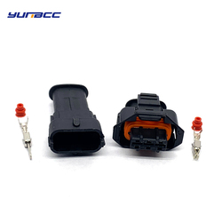 5Sets 3Pin Boschs Female Male 3.5mm Auto Sensor Connector Rail pressure sensor Diesel Injection Pump Use 1928404227 1928403966