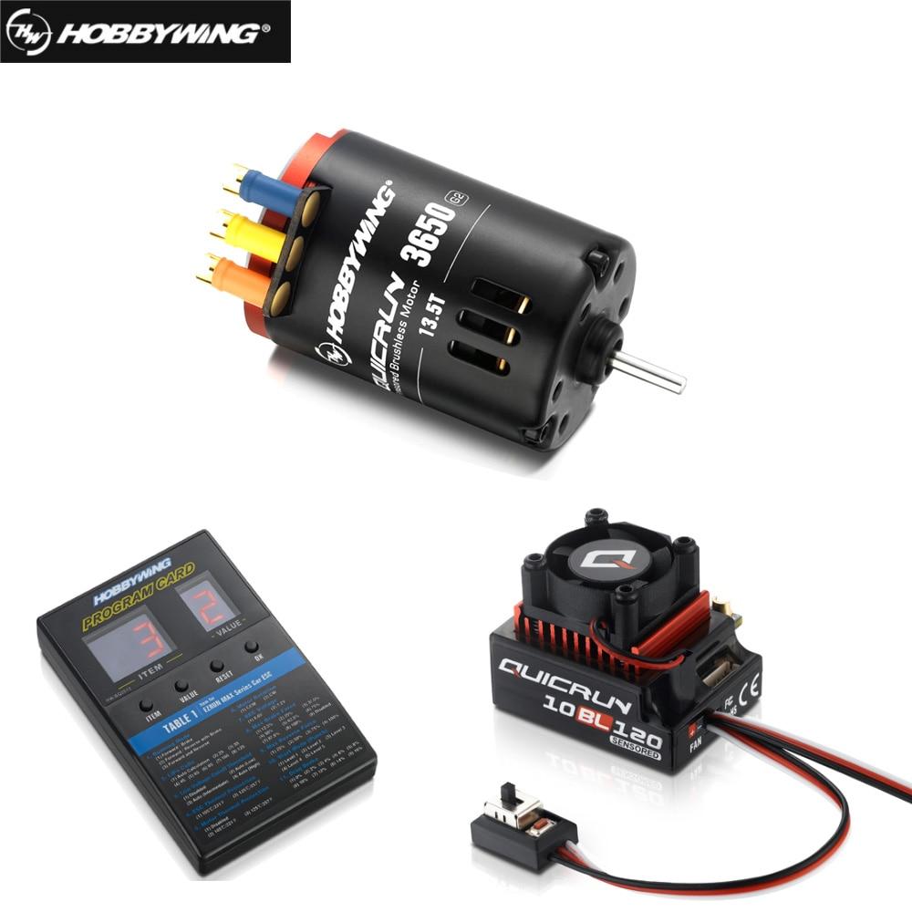 Hobbywing quicrun 3650 sensor brushless g2, com corrida rápida 10bl120 120a sensor + led caixa de programa geral combinação para rc 1/10 carro carro
