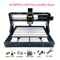 RU/EU Warehouse Arrival Upgraded DIY CNC 3018 PRO Laser Router Machine Engraver With GRBL SOftware 500MW 2500MW 5.5W 15W Mould