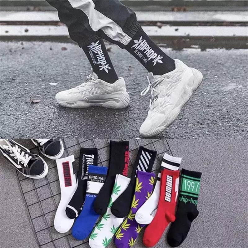 Men's And Women's Comfortable High Quality Cotton Casual Long Harajuku Ins Tide Socks Men And Women Trend Socks Hip Hop Socks