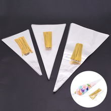 50Pcs/Set Clear Cellophane Packing Bag Transparent Cone Candy Bag For DIY Wedding Birthday Party Favors Bag Popcorn Plastic Bag