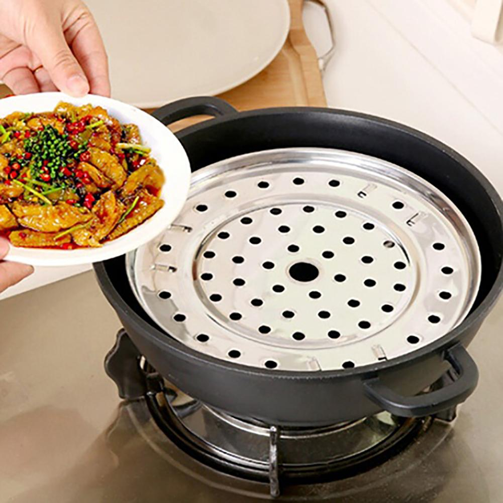 Stainless Steel Steamer Rack Insert Stock Pot Round Steaming Tray Stand Cookware Multifunctional Home Kitchen Tool