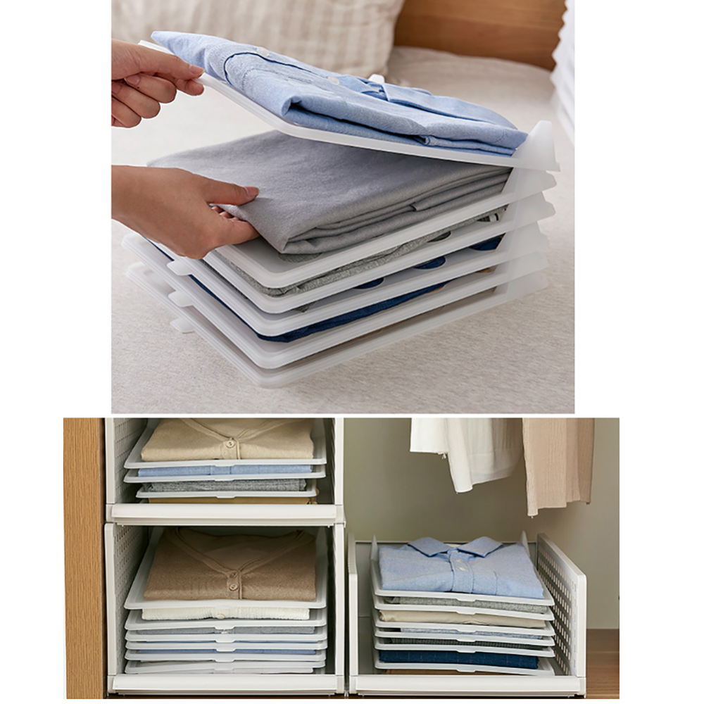 10/15pcs Quality Adult Clothes Folder T-Shirt Jumpers Organizer Fold Save Time Quick Folding Board Clothes Holder Home Storage