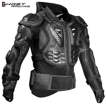GHOST RACING Motorcycle Jacket Men Full Body Armor Motocross Racing Protective Gear Back Chest Shoullder Elbow Protection