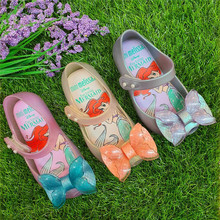Girls 2020 New Mini Melissa Mermaid Jelly Shoes Kids Beach Sandals Children Princess Candy Non-slip Melissa Sandals SH19107