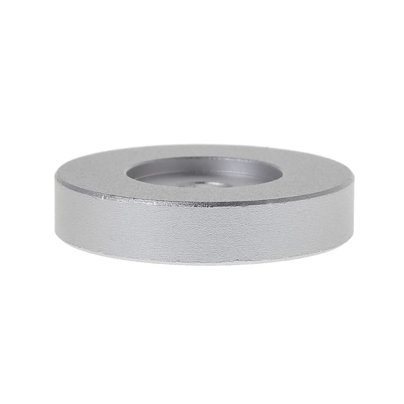 Record <font><b>Turntable</b></font> Adapter 45 RPM Aluminum Silver for 7