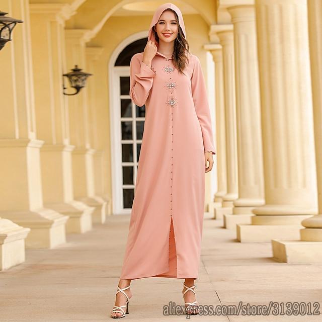 Robe Musulman Djellaba Femme Eid Kaftan Dubai Abaya Turkey Hijab Muslim Dress Ramadan Caftan Islamic Clothing Abayas For Women 1