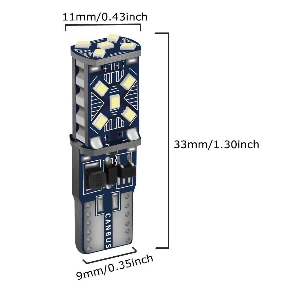 2 قطعة T10 W5W جديد مصباح LED فائق السطوع وقوف السيارات أضواء WY5W 168 501 2825 السيارات إسفين بدوره الجانب لمبات السيارات الداخلية القراءة مصباح على شكل قبة