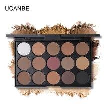 UCANBE Brand 15 Colors Matte Shimmer Eyeshadow Makeup Palette Long Lasting Natural Eye Shadow Cosmetics Kit Nude Make Up