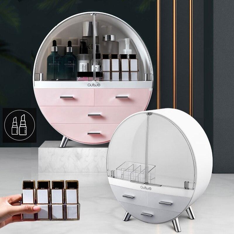 Makeup Organizer Cosmetic Storage Box Women Beauty Toiletry Kits Cosmetic Case Waterproof Dust Proof Drawer Makeup Bag