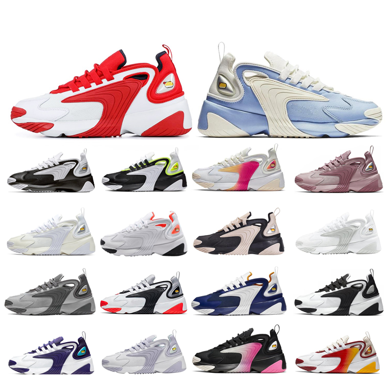 White Red Rainbow Triple Black Creamy Zoom 2K M2K Running Shoes Tekno Race Red Royal Blue Dark Grey Men Women Sports Sneaker