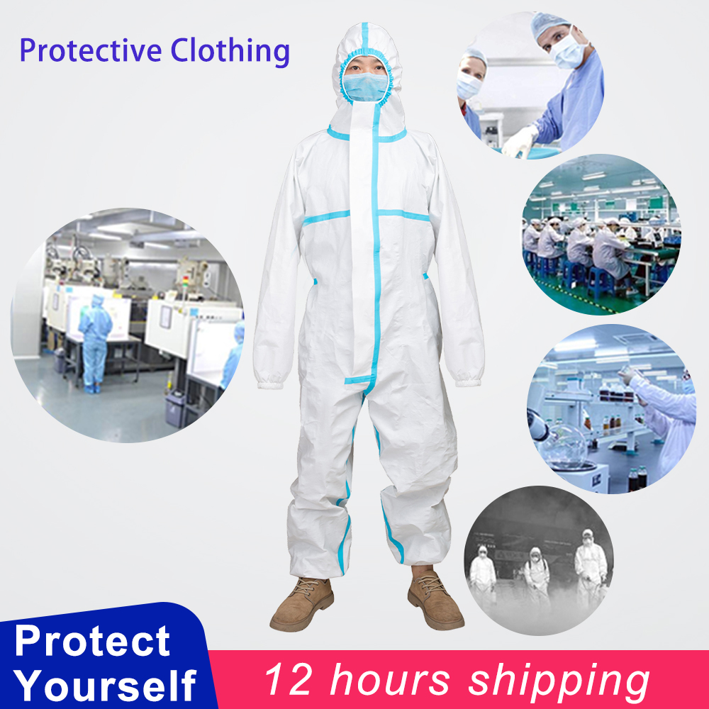 Protective Coverall Anti-epidemic Antibacterial Personal Isolation Suit Protective Clothing Dust-proof Coveralls Anti Fog Static